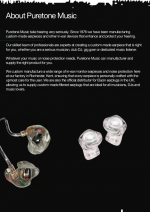 Puretone Music in ear monitors - PDF